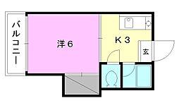 長戸ハイツ[203 号室号室]の間取り