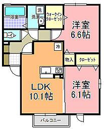仮)D−room寄井 F[205号室]の間取り