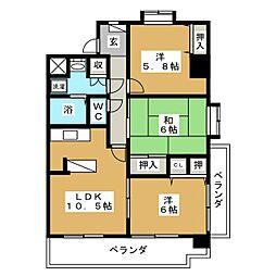 クレスト・コート[3階]の間取り