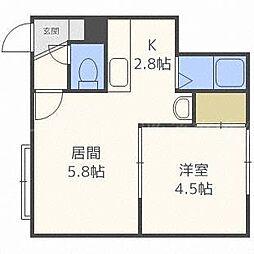 北海道札幌市東区北四十五条東17丁目の賃貸アパートの間取り