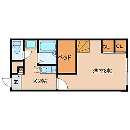 近鉄京都線 大和西大寺駅 バス14分 平城中山北口下車 徒歩3分の賃貸マンション 1階1Kの間取り
