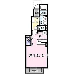 JR日豊本線 国分駅 3.2kmの賃貸アパート 1階1Kの間取り