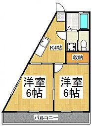 小沢ハイツ[4階]の間取り