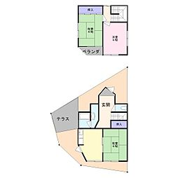 [一戸建] 奈良県生駒市西菜畑町 の賃貸【/】の間取り