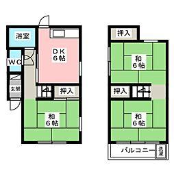 [一戸建] 愛知県春日井市関田町1丁目 の賃貸【/】の間取り