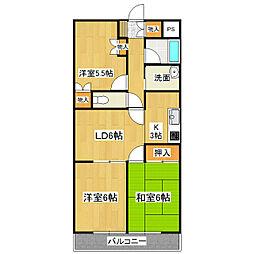 茨城県つくば市観音台1丁目の賃貸マンションの間取り