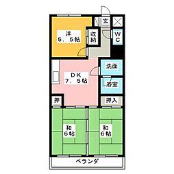 フィールド アパートメント[3階]の間取り