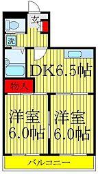 千葉県松戸市松飛台の賃貸マンションの間取り