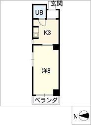 グリーンハイツ千代田[4階]の間取り
