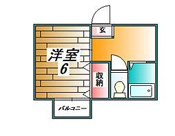 シェーンハイムオカバ[206号室]の間取り