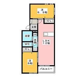Mount明I[1階]の間取り