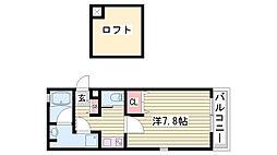 ワコーレヴィアーノ神戸上筒井通EAST[201号室]の間取り
