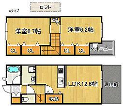 カメーリア1・2号館[2階]の間取り