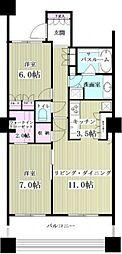 パークタワー東京フロントbt[1602kk号室]の間取り