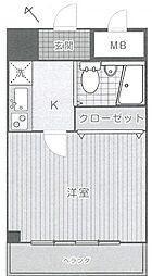 パレドール津田沼II[404号室]の間取り