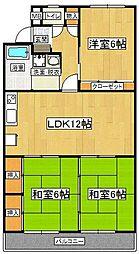 KTビル 2階3LDKの間取り