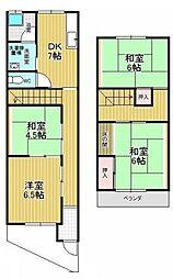 [テラスハウス] 愛知県名古屋市名東区亀の井2丁目 の賃貸【/】の間取り