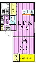 東京都足立区竹の塚1丁目の賃貸アパートの間取り