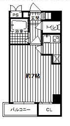 ドゥムール新町[9階]の間取り