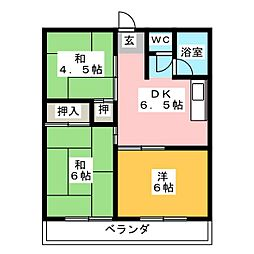 OS・SKYマンション城下[5階]の間取り