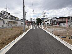 接道状況および現場風景 西東京市栄町3丁目