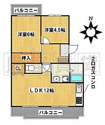 愛知県名古屋市昭和区南分町6丁目の賃貸マンションの間取り
