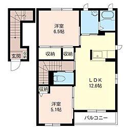 シャーメゾンK[2階]の間取り