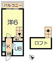 シティパレス生駒東松ヶ丘P−2[3階]の間取り