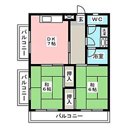 アルファーハイツ博多駅南[4階]の間取り