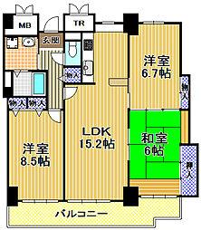 酉島リバーサイドヒルなぎさ街20号棟[29階]の間取り