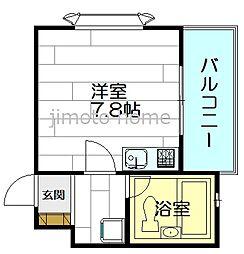 ベルトピア江坂[1階]の間取り