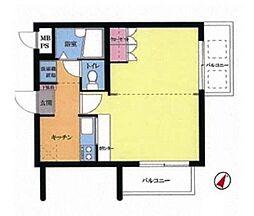 ウィンベルデュエット横浜阪東橋2号館[2階]の間取り
