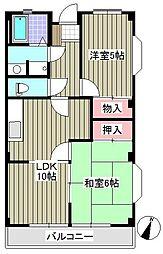 PCSマンション[303号室]の間取り