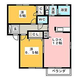 メゾン・コンフォート[2階]の間取り