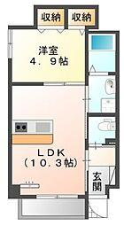 仮)中区正木3丁目自宅併用店舗マンション[4階]の間取り