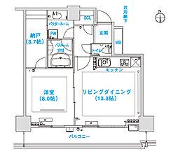 松屋タワー[7階]の間取り