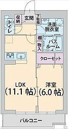JR東海道本線 戸塚駅 バス7分 南谷下車 徒歩9分の賃貸マンション 3階1LDKの間取り