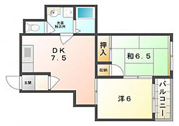 ラフォール寝屋川B[2階]の間取り