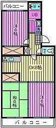 フローラ盆栽町[4階]の間取り