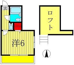 ジュネパレス松戸第68[1階]の間取り