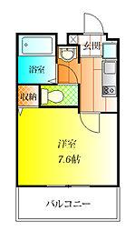 グリーンベレー B棟[2階]の間取り