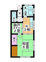 戸田アパート[2-5号室]の間取り