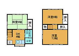 [テラスハウス] 神奈川県相模原市南区上鶴間8丁目 の賃貸【/】の間取り