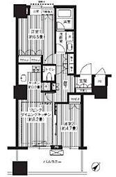 東京都豊島区東池袋4丁目の賃貸マンションの間取り