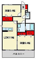 シャーメゾン畠田I[1階]の間取り