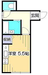 サンコート武蔵小金井[1階]の間取り