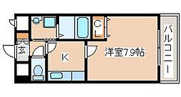 兵庫県明石市人丸町の賃貸マンションの間取り