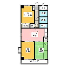 パークシティKATO[2階]の間取り