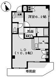 愛知県名古屋市昭和区折戸町3丁目の賃貸アパートの間取り
