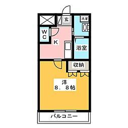 クレスト・M&M[2階]の間取り